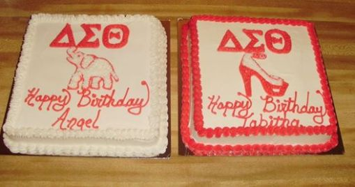 """in lieu of the controversy of the VH1 TV show """"Sorority Sisters"""" Delta Sigma Theta Birthday cakes.... Let your favorite greek know we can show their organization in a positive and respectful light!"""