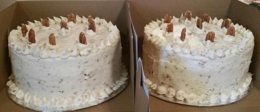 Italian creme cakes